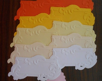Peel and Stick Cutouts for Scrapbooking, Cards, Name Tags, etc