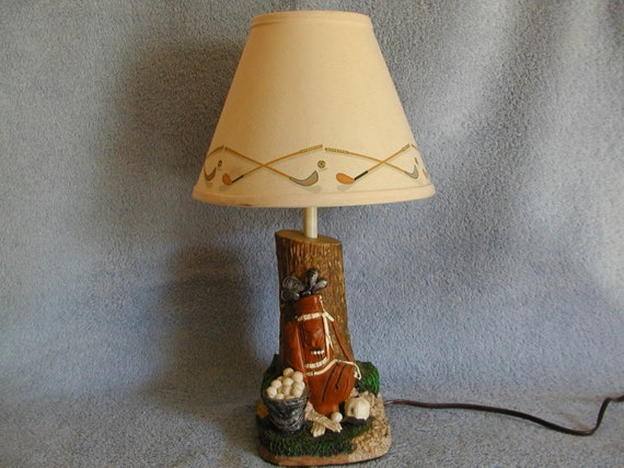 Accent Lamp Golf Themed