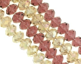 Champagne/Wine Red Rondelle Chinese Crystal Beads, Chinese Crystal Beads,  Champagne/Wine Red Bead, Rondelle Chinese Crystal, Rondelle Beads