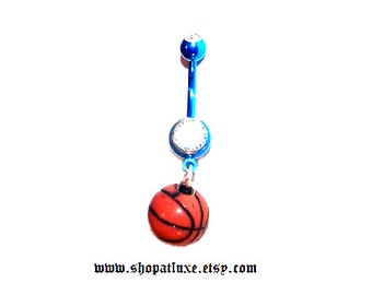 March Madness 3D Basketball Navel Belly Ring