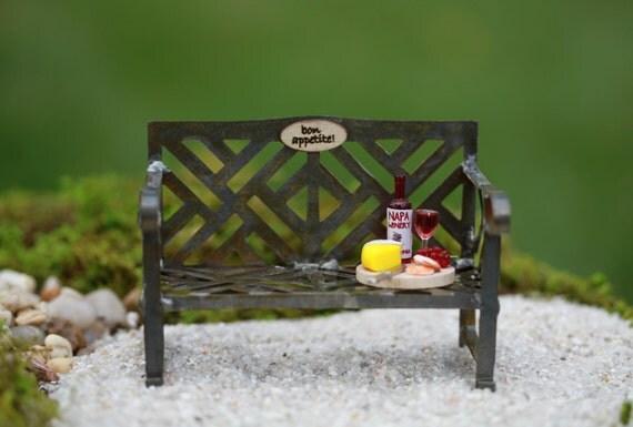 Miniature banc de jardin miniature mobilier fée accessoires