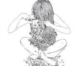 Gardening Illustration Print