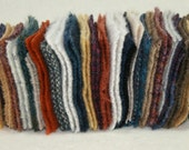 """Wool Worms - Build Your Stash with Our Wool Worms - NOW Fifty 4"""" x 4"""" Squares - No Two Worms Alike"""