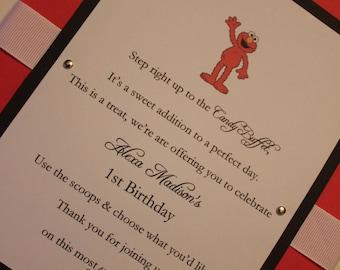 Elmo Candy Buffet Sign