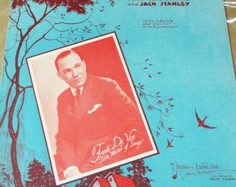 Vintage 1930 sheet music - The Trouble is it's only in my Dreams - Frank De Voe