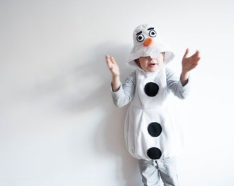 Olaf Costume, Snowman Costume, Toddlers Halloween Costume, Party Costume, For Boys or Girls, Toddler Costume