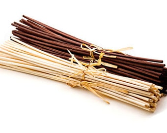 Replacement Oil Diffuser Reeds, Two Sets of 12 Rattan Reeds, Choose Light or Dark Color