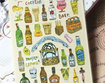Beer Sticker  - 1 Sheet