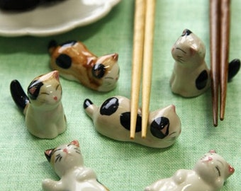 Lovely Cat Chopstick Stand - 1 Stand Pick Up by Random
