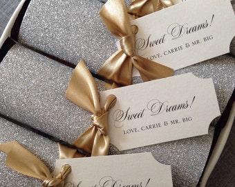 Glitter Wrapped Chocolate Bar Favors {set of 25}