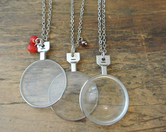 Upcycled Vintage Monocle Necklace, Antique Silver, Repurposed, Antique Monocle, Unique, One of a Kind BY UPcycled Works