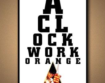 CLOCKWORK ORANGE Eye Chart Poster