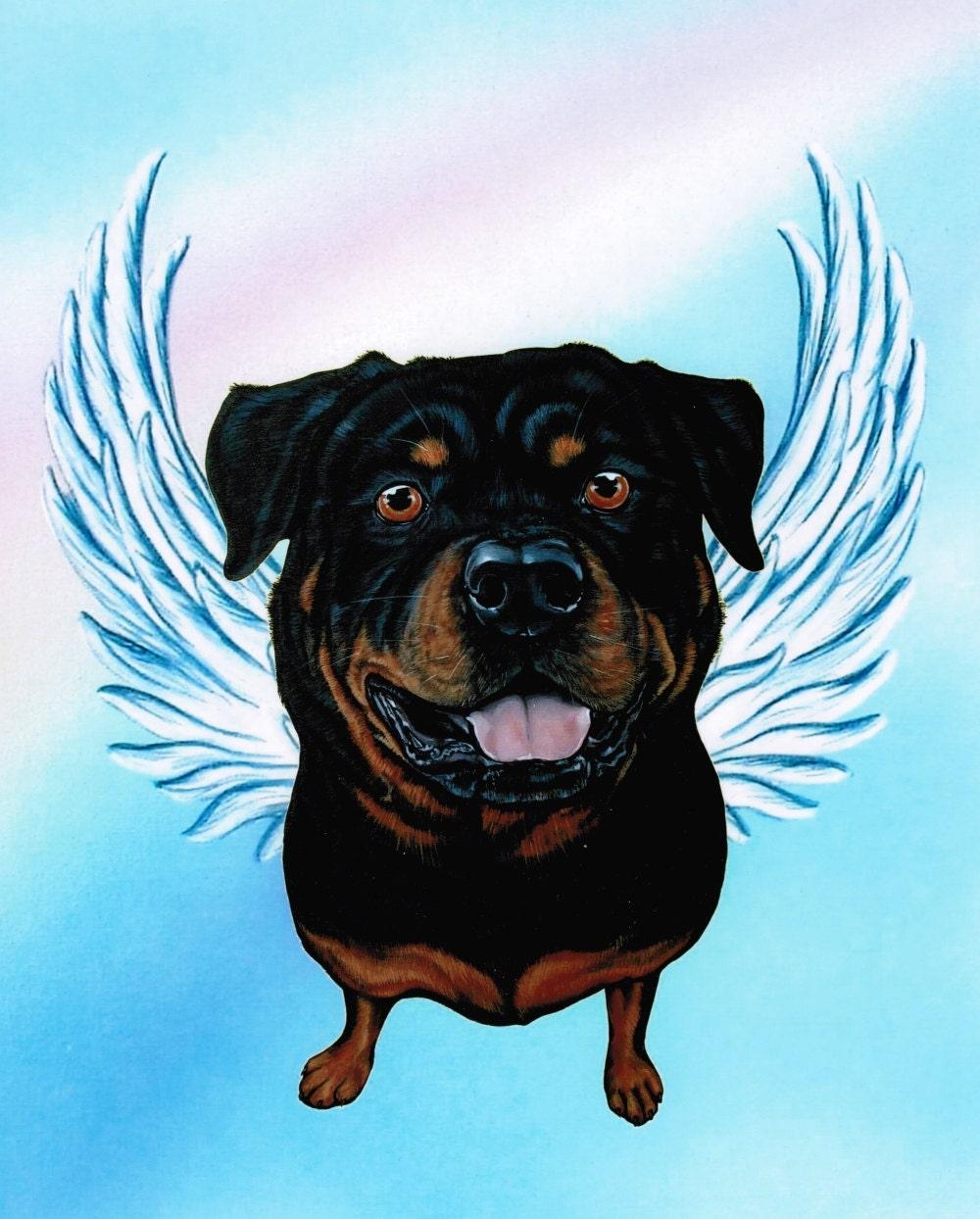 Rottweiler Rottweiler Angel Rottweiler Art Dog By Artbyweeze