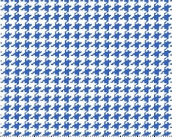 Royal Houndstooth Fabric --- 100 Percent Cotton --- Fabric By The Yard
