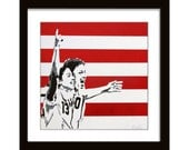 12 x 12 Alex Morgan, Abby Wambach Screenprint on Canvas