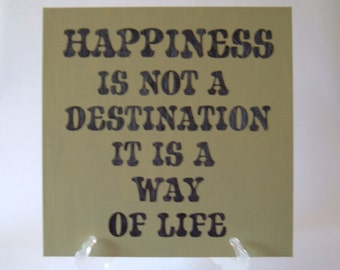 CLOSEOUT SALE* Happiness 12x12 Canvas