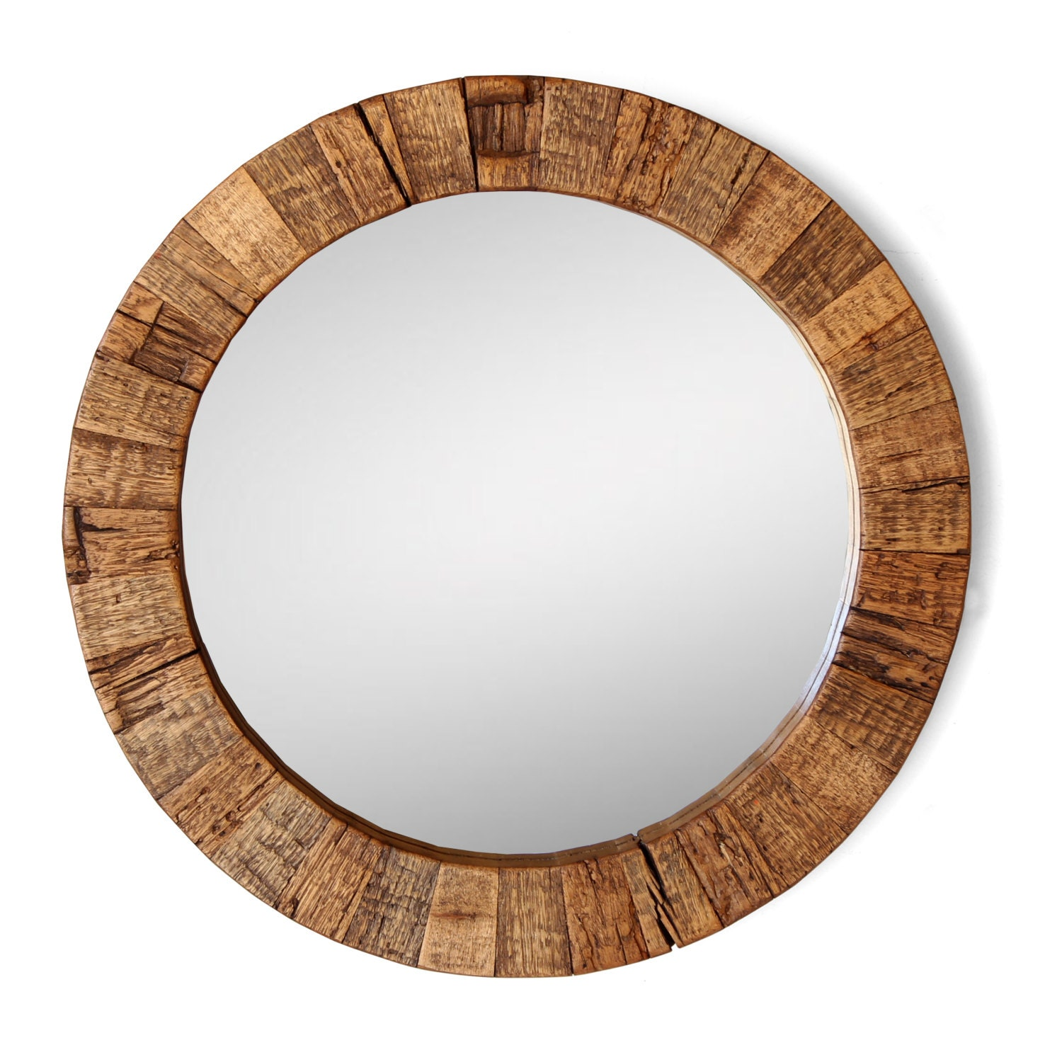 The collier round wood mirror for Round wood mirror