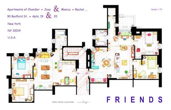 Monica Rachel Chandler Joey Apartments From
