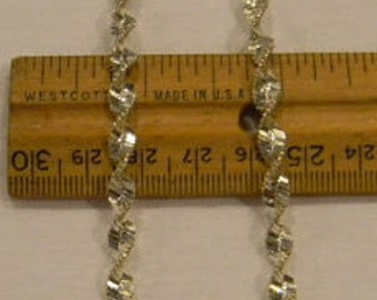 """Unusual Fashion 925 Sterling Silver Pretty Twisted Necklace 23.5"""" Long #5305"""