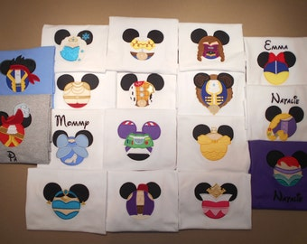 Disney Shirts Mister Miss Mouse Shirts Family Vacation Clothes or Cruise Shirt - personalized - Mix n Match