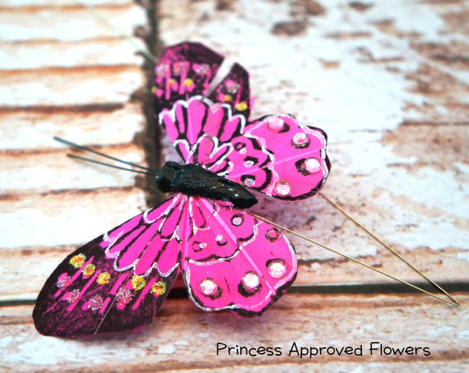 Butterfly Pick - BRIGHT PINK