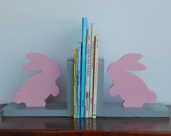 Handmade Bunny Bookends - Children, Nursery Bookends
