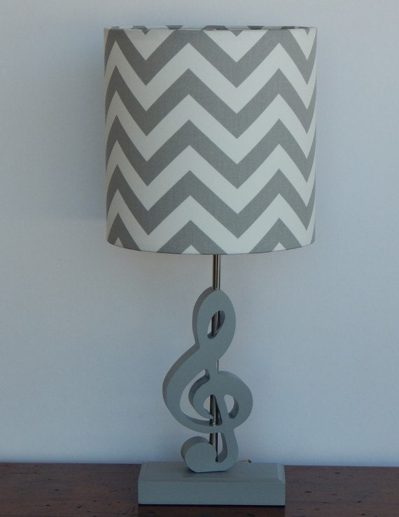 Handmade Treble Clef/Music Note Lamp Base Great for Nursery