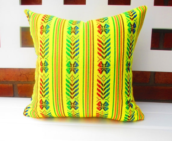 Items similar to pillowcase aztec tribal pillow cover Mexican embroidered bedding