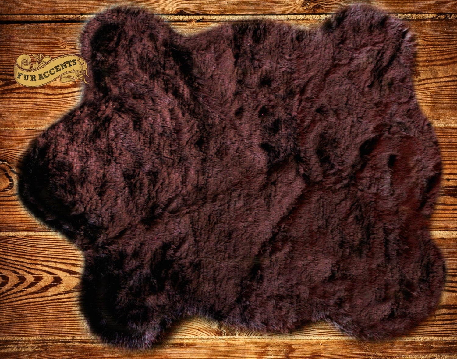 fur accents faux fur bear skin pelt rug accent by furaccents. Black Bedroom Furniture Sets. Home Design Ideas