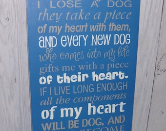It Came To Me That Every Time I Lose A Dog, Pet Sign, Pet Lover Sign, Dog Sign, Dog Subway Sign, Lose A Dog Sign, Gift For A Dog Lover
