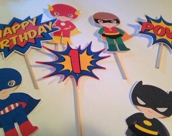 Super Hero Toppers x12