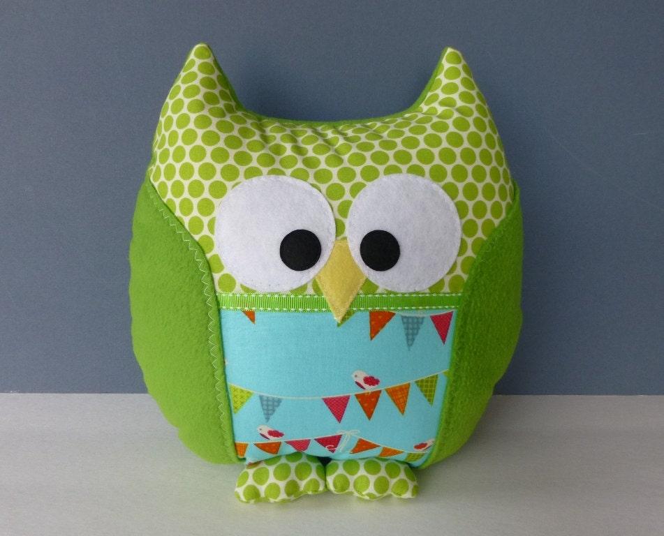 owl pillow etsy