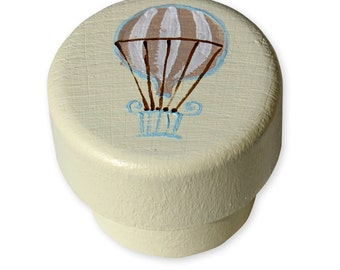 Dresser knobs,  Hand decorated wooden drawer knobs; Parachutes design 1 1/2 inches - Made to Order