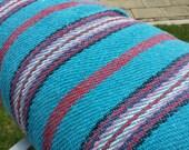 ALL- Purpose 5 yards x .62 yard Mexican turquesa JERGA / floorcloth FABRIC with stripes