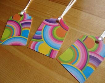 Rainbow Tags - Qty: 10 - Rainbow - Treat Tags - Gift Tags - Hang Tags