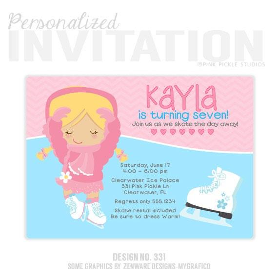 Ice Skating Birthday Invitation Ice Skating Party Ice – Ice Skating Party Invitations