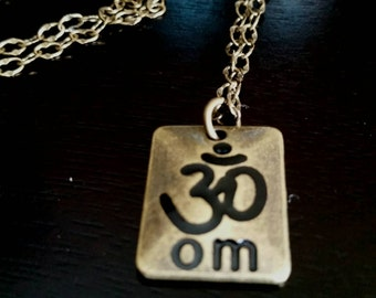 "Om/Aum 18"" Brass Necklace"