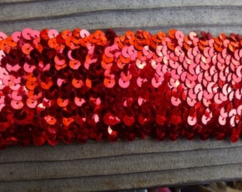 Wide Red Sequins Trim