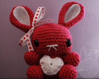 Valentine's Day Bunnies ( 6 1/2 inches tall )