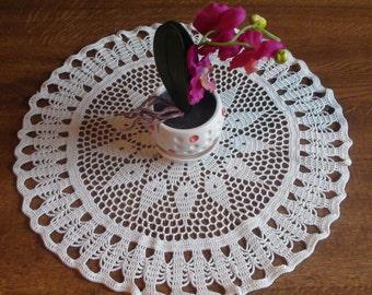 Crocheted doily  Cream doily Lace doily Handmade doily Crochet doily Lace doilie