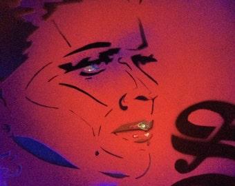 black light poster art of Dark Shadows actor Joan Bennett