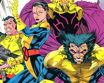Comic Book Coaster - Xmen - Wolverine - Psylocke - Forge - Marvel Comics - Claws - Psychic - Large Trivet or Beverage Coaster - Halloween