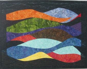 Art Quilt Tropical Colors