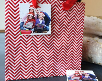 Gift Tags for Christmas Gifts - Add a family photo and tie them onto your holiday presents (Square Tags)