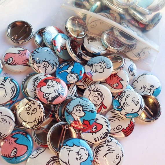 Cat Hat Pins: One-Of-A-Kind Cat In The Hat Pins Quantity By