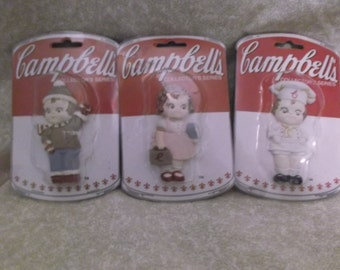 Vintage Campbells Kids Collectibles set of 3