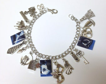 50 Shades of Grey Inspired Charm Bracelet