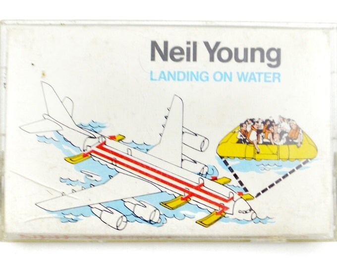 Vintage 80s Neil Young Landing on Water Album Cassette Tape