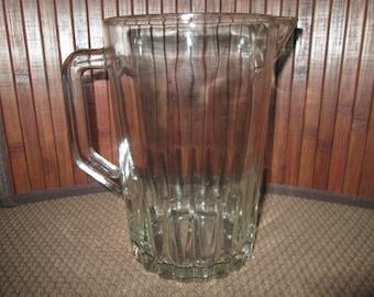 Vintage Heavy Old Water/Beverage/Beer Glass Juice Pitcher