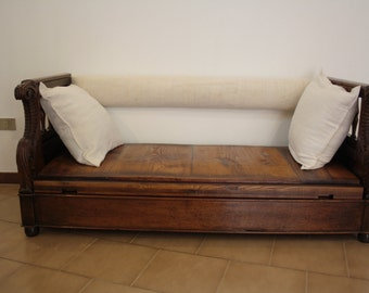 Chest sofa in solid walnut